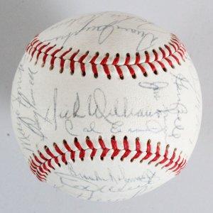 1968 AL All-Stars Multi-Signed Baseball (Mantle's Last) - COA PSA/DNA