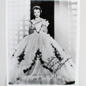 Janet Gaynor Signed 8×10 Photo - COA JSA