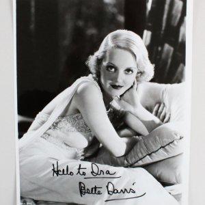 Bette Davis Signed 8×10 Photo - COA JSA