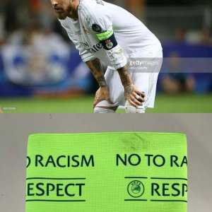 A Sergio Ramos Real Madrid Game-Used Captain's Armband UEFA Champions League Final Match Milano 05/28/2016
