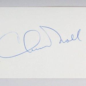 Chuck Knoll Signed 3x5 Index Card - COA JSA