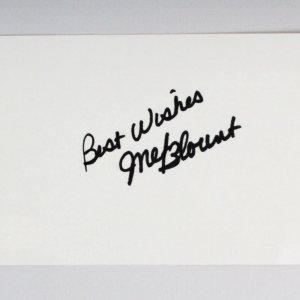 Mel Blount Signed 3x5 Index Card - COA JSA