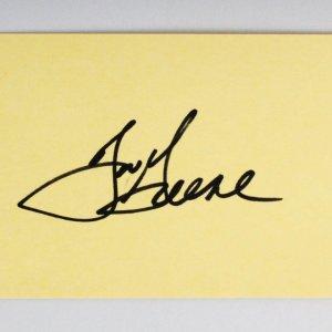 Joe Greene Signed 3x5 Index Card - COA JSA