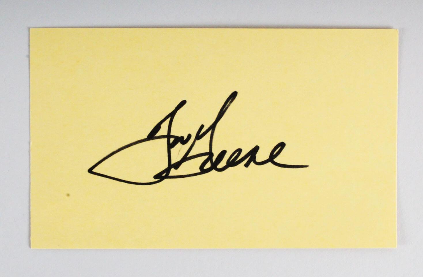 new arrivals 2a9c4 c72e6 Joe Greene Signed 3x5 Index Card - COA JSA