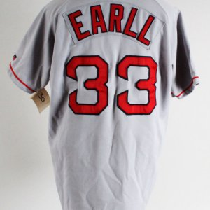 """""""Mr. 3000"""" Boston Red Sox Jersey, Pants & Cap Uniform Costume as Worn by Earll (Backlot Props)"""