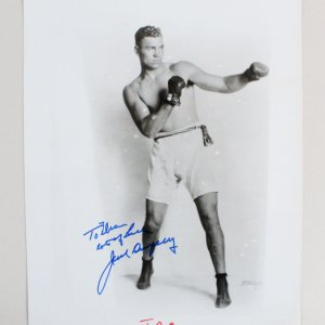 Jack Dempsey Signed 8x10 Boxing Photo - COA JSA