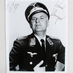 Werner Klemperer Signed 8x10 Photo - COA JSA