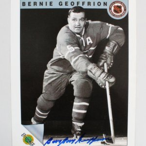 Bernie Geoffrion Signed 8x10 Montreal Canadiens Photo - COA JSA