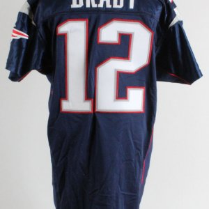2001 Tom Brady New England Patriots Home Game Jersey (Mears A5)