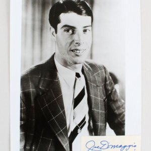 Joe DiMaggio Signed 8x10 Photo Cut - JSA Full LOA