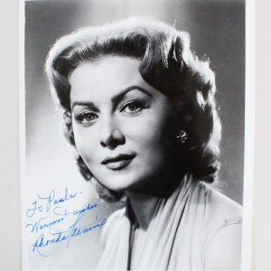 Rhonda Fleming Signed 8x10 Photo - COA JSA