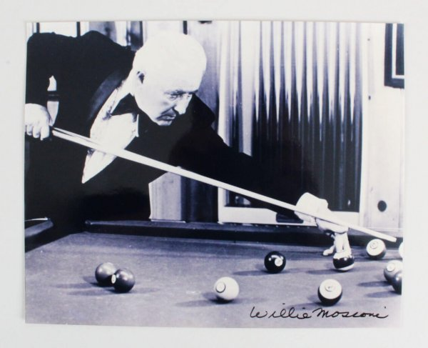 Willie Mosconi Signed 8x10 Photo - COA JSA