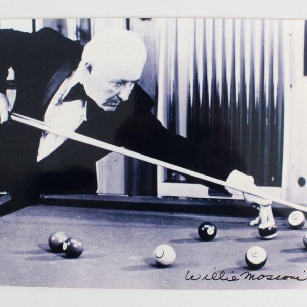 Willie Mosconi Signed 8x10 Photo - COA JSA
