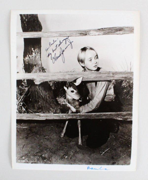 Claude Jarman Jr. Signed 8x10 Photo - COA JSA