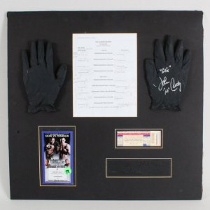 UFC 77 - Anderson Silva vs. Rich Franklin - Big John McCarthy Fight-Worn Referee Gloves, Signed Complete Roster Sheet, Ticket & Credentials