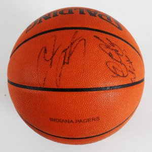 LeBron James & Carmelo Anthony Signed, Game-Used Basketball