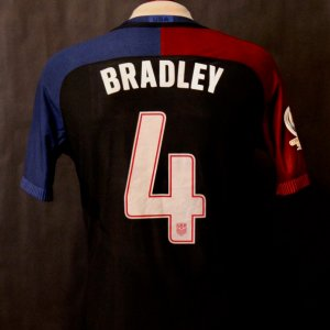 A Michael Bradley Game-Used #4 USA Shirt.  2016 Copa America Centenario.
