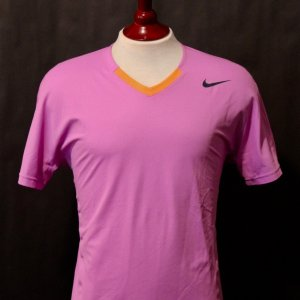 A Rafael Nadal Game-Used Custom Nike Tennis Shirt.  2013 ATP Mexico Final (Men's Singles Champion).