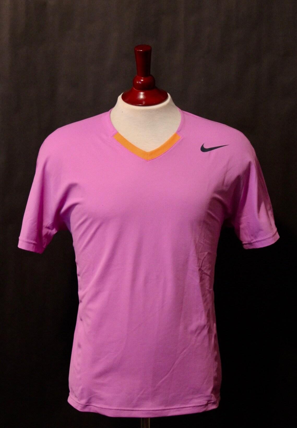 A Rafael Nadal Game Used Custom Nike Tennis Shirt 2013 Atp Mexico