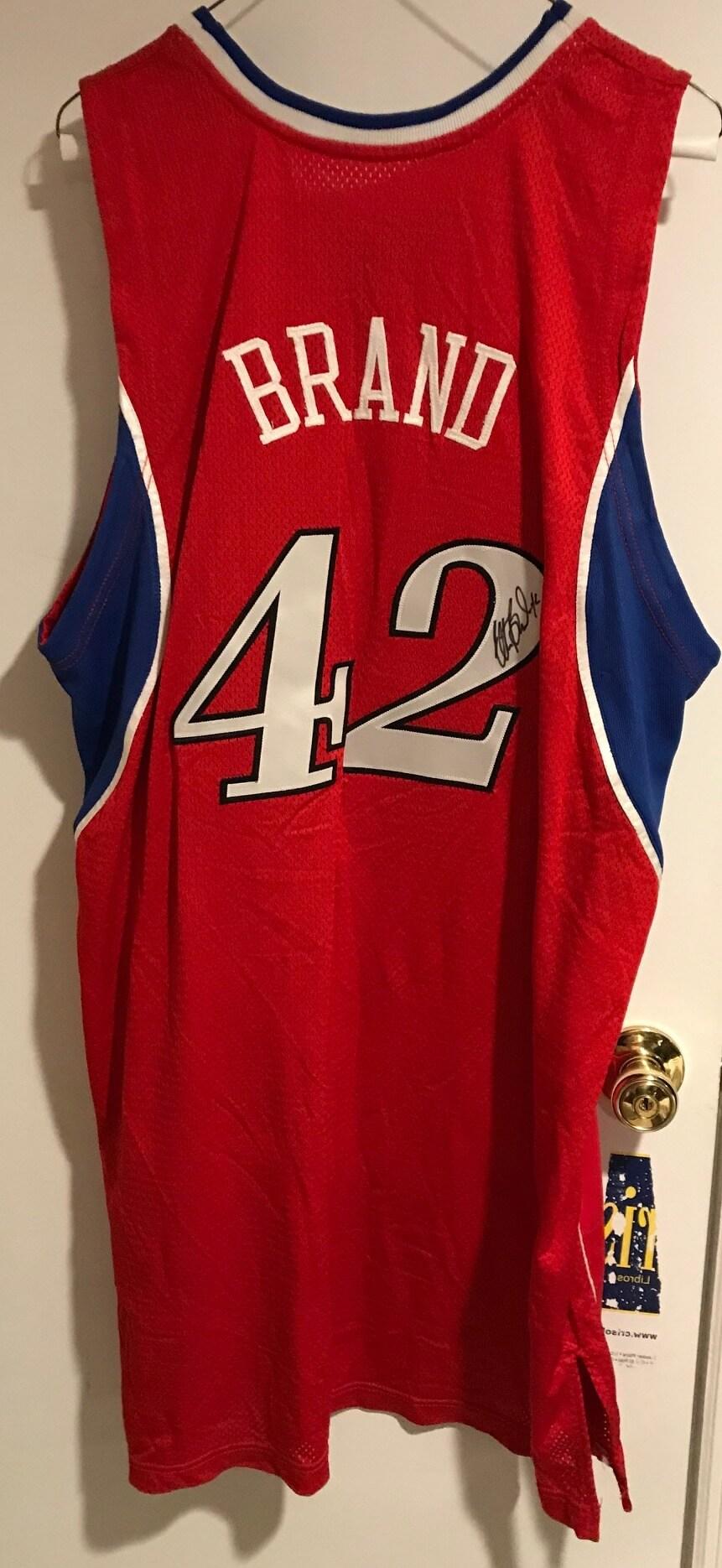 58ea777f5ab Philadelphia 76ers Game Worn Jersey Signed Elton Brand 2008
