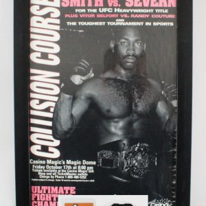 UFC 15: Collision Course On-Site Poster RARE w/ Credentials SEG