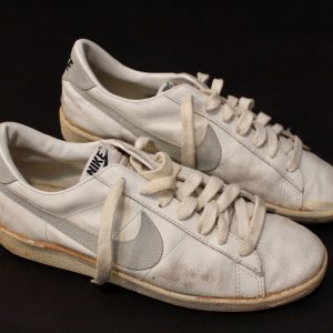 A Pair of John McEnroe's Personal Game-Used Nike Tennis Shoes.  Late 1970's / Early 1980's.