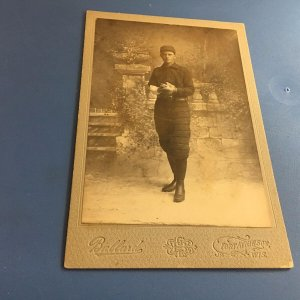 19th Century 1890's Baseball Player Cabinet Photo Card