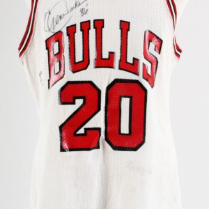 1986-87 Gene Banks Game-Worn, Signed Chicago Bulls Jersey COA 100% Authentic & Player LOA