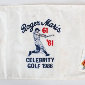Roger Maris 61 in 61 Used Celebrity Golf 1986 Pin Flag