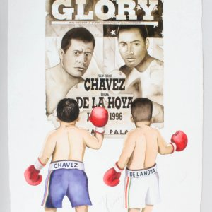 Julio Cesar Chavez Signed Ultimate Glory Print LE 3/16 - COA JSA