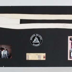 Royce Gracie Signed Jiu-Jitsu White Belt Display - COA JSA & Provenance LOA