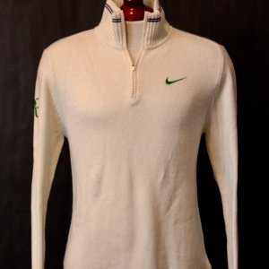 A Roger Federer Game-Used Custom Nike Tennis Cashmere Sweater.  2012 Wimbledon Men's Singles Final (Champion).
