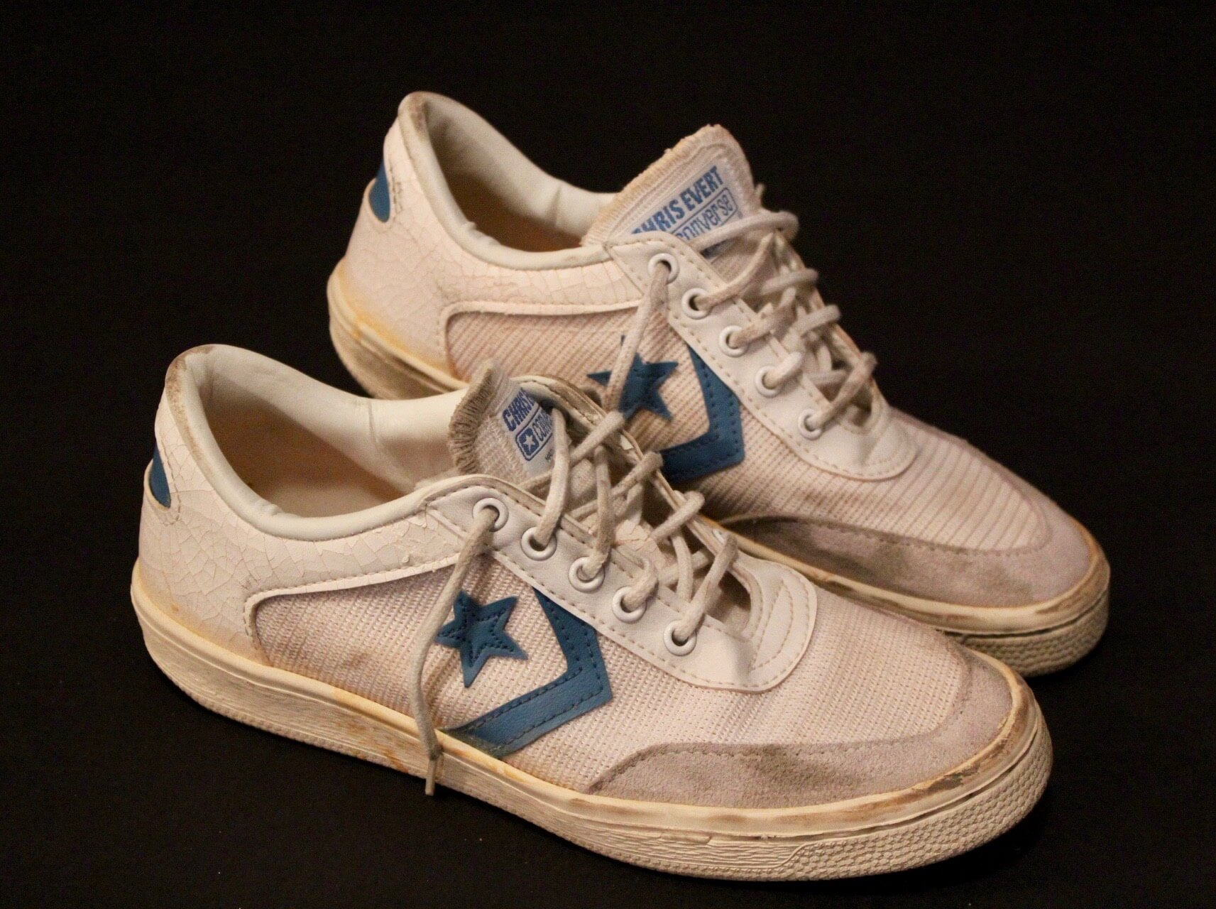 8fb2a7e0a89b A Pair of Chris Evert Game-Used Custom Converse Tennis Shoes. 1980 US Open  (Women s Singles Champion).