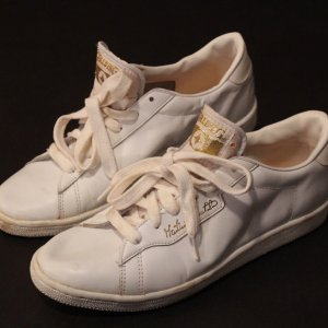 A Pair of Martina Navratilova Game-Used Custom Spalding Tennis Shoes.