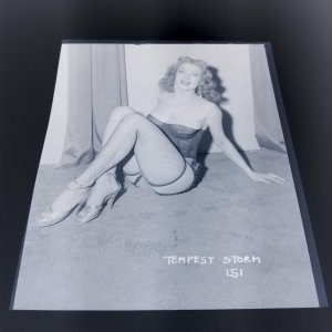 TEMPEST STORM ORIGINAL 4 X 5 NEGATIVE FROM IRVING KLAW ARCHIVES  #151