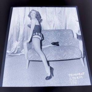 TEMPEST STORM ORIGINAL 4 X 5 NEGATIVE FROM IRVING KLAW ARCHIVES  #157