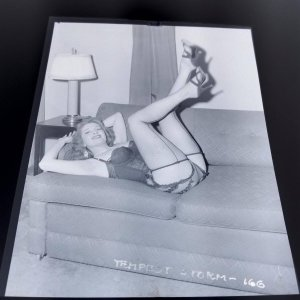 TEMPEST STORM ORIGINAL 4 X 5 NEGATIVE FROM IRVING KLAW ARCHIVES  #166