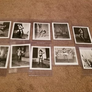 BETTIE PAGE 4 X 5 PHOTOS FROM IRVING KLAW ARCHIVES LOT OF 10 PRINTS WITH COA