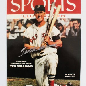 Ted Williams Signed 1955 cover of Sports Illustrated - UDA