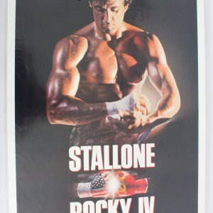 1985's Rocky IV One Sheet Movie Poster