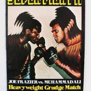Joe Frazier vs, Muhammad Ali Super Fight II Heavyweight Grudge Match Madison Square Garden-January 28,1974 (On-Sight) Program