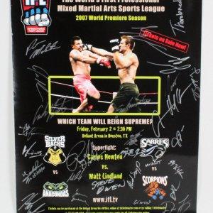 IFL 8 Matt Lindland vs. Carlos Newton Multi-Signed Poster