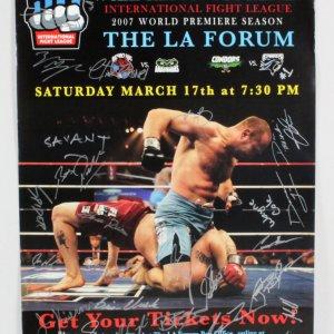 IFL 10 Wayne Cole vs. Antoine Jaoude Multi-Signed Poster