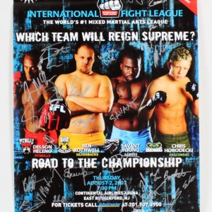 IFL 16: 2007 Semifinals Multi-Signed Fight Poster
