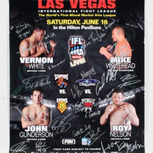 IFL 15: Las Vegas Mike Whitehead vs. Vernon White Multi-Signed Poster