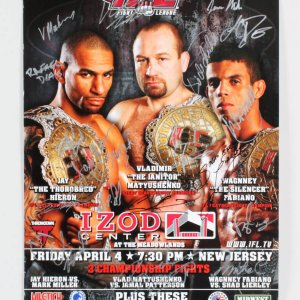 IFL 21: New Jersey - Marrero vs. Ciesnolevicz Multi-Signed Poster