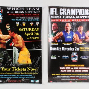 IFL 11: Moline - Reeves vs. Johnson Multi-Signed Poster + Semi-Final Poster