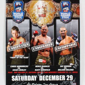 IFL 19: World Grand Prix Finals Multi-Signed Fight Poster