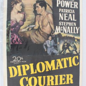1958 Diplomatic Courier One Sheet Movie Poster 52/242