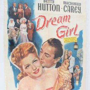 1948 Dream Girl One Sheet Movie Poster 48/853